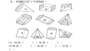 柱體與錐體前測