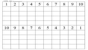1-10數字練習