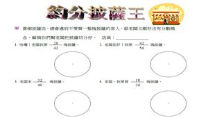 披薩王-等值分數(約分)