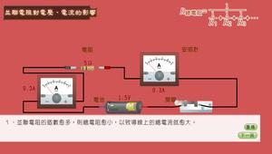 簡單電路-並聯電阻對電壓、電流的影響