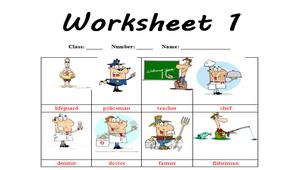英文職業學習單