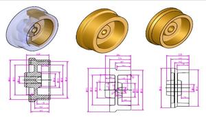 成形加工前素材的形狀