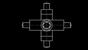 繪製組合圖之左側視圖-如何表現部分零件圖相互配合情形