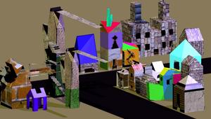 blender 建模-城鎮-資源代表圖