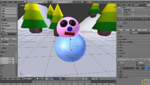 BLENDER 3D 小雪人(三)