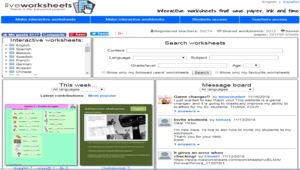 互動學習單製作網站 liveworksheets