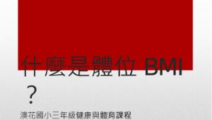什麼是體位BMI?