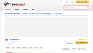 Freesound聲音庫:06691 horror screechy scream.WAV-資源代表圖