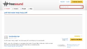 Freesound聲音庫:yell kid male help help.aiff-資源代表圖